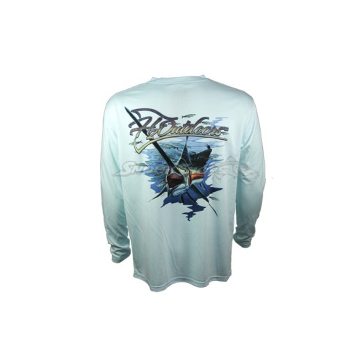 Camiseta H2 Outdoors Single Color Salfish - Azul Claro