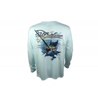 Camiseta H2 Outdoors Single Color Salfish - Cor: Azul Claro